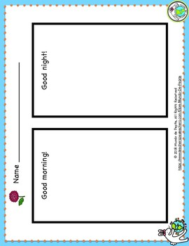 Good Morning Minibook & Activity Theme Pack in ENGLISH ESL