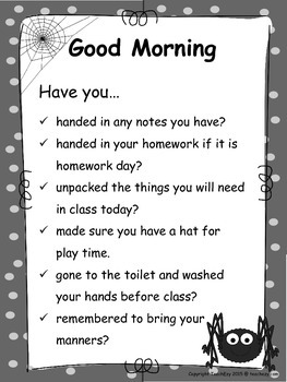 Good Morning Posters for the Classroom