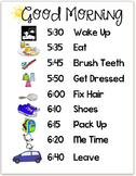 Good Morning Routine Chart Schedule - Editable