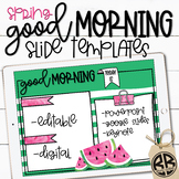 Good Morning Slide Templates | Morning Routine Powerpoint