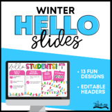 Good Morning Slide Templates - Winter Theme