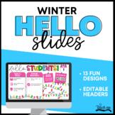 Good Morning Slide Templates - Winter Theme