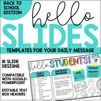 Good Morning Slides - Back to School Theme