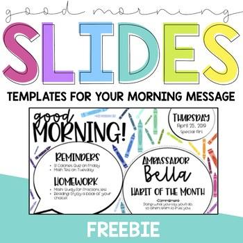 Good Morning Slides - FREEBIE