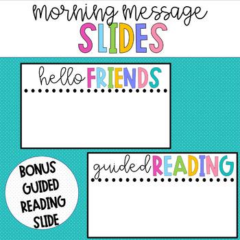 Good Morning Slides - Peppy Colors