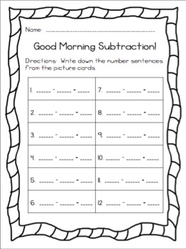 Good Morning Subtraction!  (Common Core Aligned)