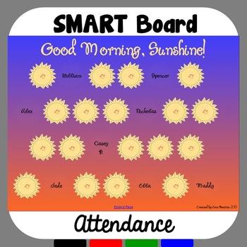 SMART Board Attendance: Sunshine