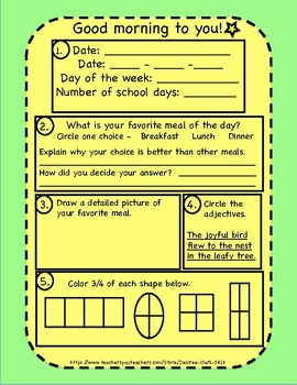 Good Morning Superstars! {45} 2nd Grade Morning Work Activity Pages PART THREE