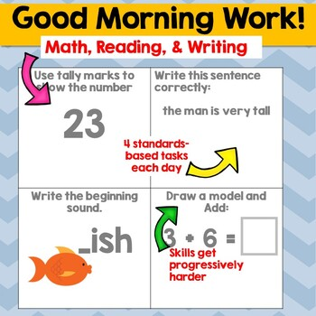 "1st Grade ""Good Morning"" Work (A growing resource)"