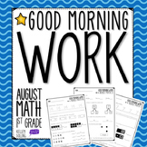 BACK TO SCHOOL MORNING WORK (1ST GRADE)