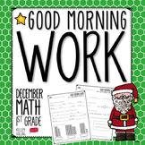Morning Work - December (Math)