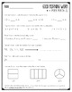 Good Morning Work - Math - May (1st Grade)