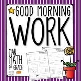 Good Morning Work - Math - May (1st Grade)
