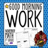 Morning Work - November (Math)