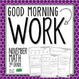 2nd Grade Morning Work (Math - November)