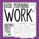 2nd Grade Morning Work (Math - November)