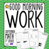 Morning Work - September (Math)