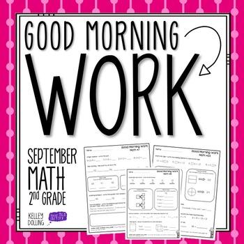 2nd Grade Morning Work (Math - September)