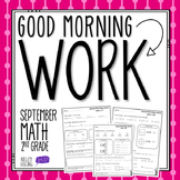 2nd Grade Morning Work (Math - September)