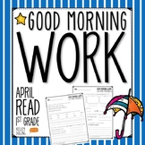 Good Morning Work - Reading - April (1st Grade)