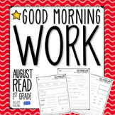 Back to School - Morning Work (Reading - 1st Grade)