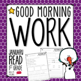 Morning Work - Reading - January (1st Grade)