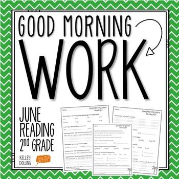 2nd Grade Morning Work (Reading - June)