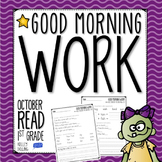 Morning Work - October (Reading)