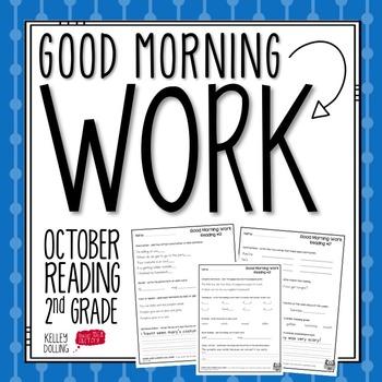 2nd Grade Morning Work (Reading - October)