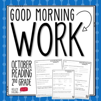 2nd Grade Morning Work (Reading - October)