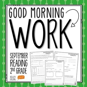 2nd Grade Morning Work (Reading - September)