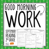 2nd Grade Morning Work (Reading - September)
