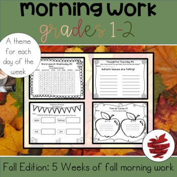 Good Mornings: 5 Weeks of  Fall Themed Morning Work