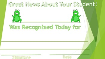 Good News Certificates, Ribbons, Awards, Character Education