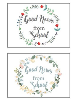 Good News From School Positive Postcards