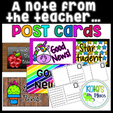 Good News Post Cards- A Note From the Teacher