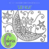 Good Night ESL EFL Conversation Classroom Coloring Activity