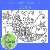 Good Night ESL EFL Conversation Classroom Coloring Activity