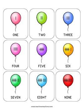 Good Night, Gorilla - Balloon Math Cards