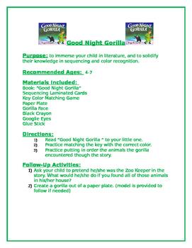 Good Night Gorilla Family Packet