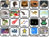 """""""Good Night Gorilla"""" Labeled Vocabulary Picture Squares"""