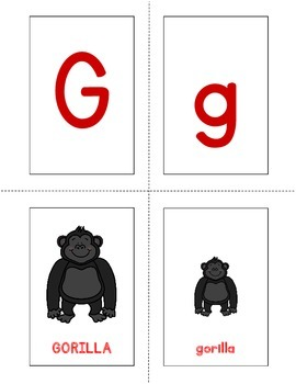 Good Night, Gorilla - Memory Match-Up Cards