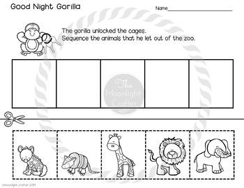Good Night Gorilla Sequencing Book Companion