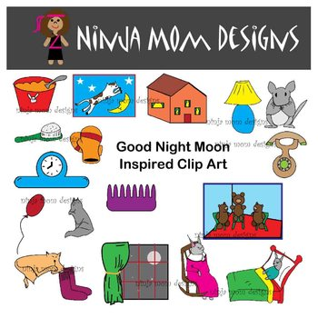 Good Night Moon Inspired Clip Art