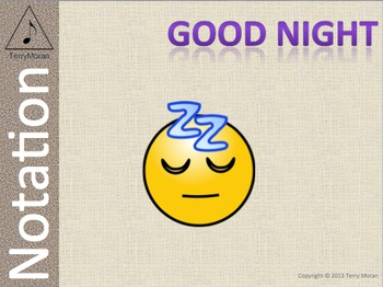 Good Night - Notation Pack