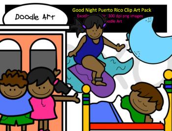Good Night Puerto Rico Clip Art pack