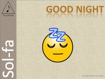 Good Night - Sol-fa Pack