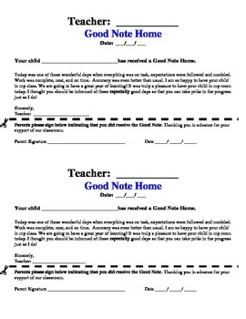Good Note Home