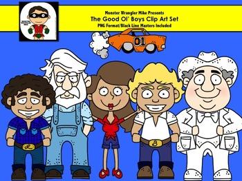 Good Ol' Boys Clip Art Set: Inspired by the Dukes of Hazzard