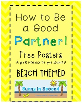 Good Partner Posters - BEACH Themed